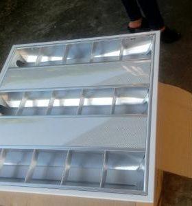 máng đèn led âm trần 600x600