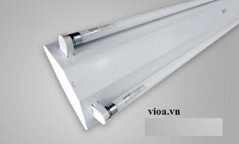 Máng đèn v shap, kích thước 1200mm, dùng để lắp 2 bóng led 1.2m