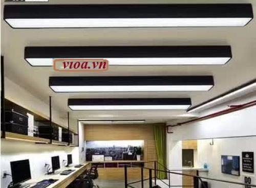 Máng đèn led - Máng Hộp thả trần đôi 200x1200 có nắp chống lóa Vĩnh Thái