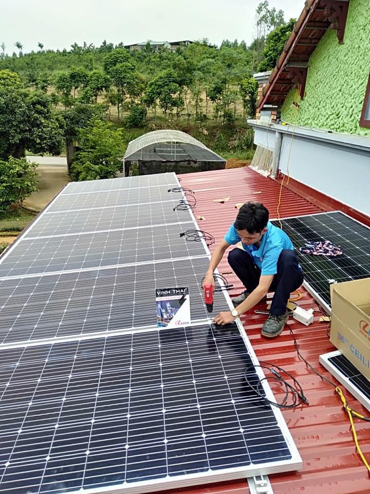 Vĩnh Thái thi công lắp đặt pin điện mặt trời chuyên nghiệp và uy tín