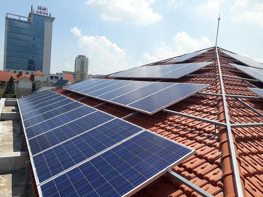 Lắp đặt điện mặt trời Vĩnh Thái